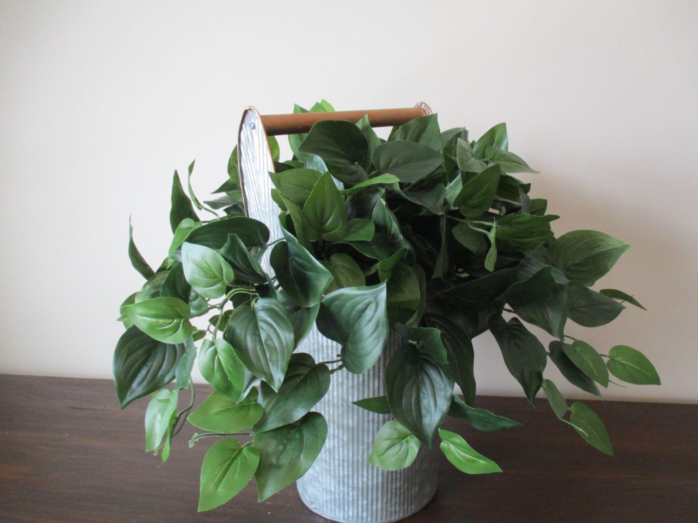 Silk Arrangements For Home Decor 2 Silk Plants Grape Ivy Arrangements Artificial Greenery Silk