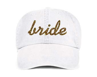 Bride Small Script Baseball Style Hat/Cap/Bridal/Wedding/Special Activities/Parties/Showers
