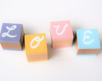 Chalkboard Blocks, Pastel Toys, Wooden Toy Building Blocks, Busy Bag for Kids
