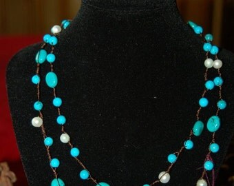"38"" single or double necklace (A72)"