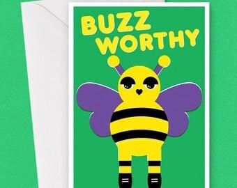 Buzzworthy Bee Card