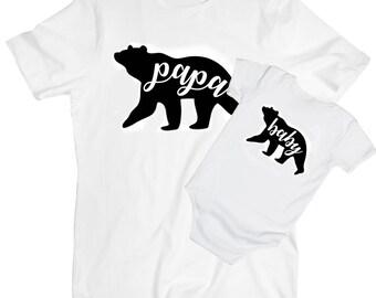 Papabear Babybear matching T-shirts