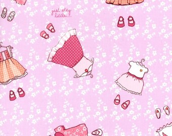 Children at Play Just Stay Little Pink by Sarah Jane for Michael Miller Fat Quarter OOP vhtf