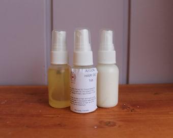 Renewing Organic Argon Hair Oil, Hot Oil Treatment, Hair Serum, Complete Hair Care Package, Hair Care Travel Pack, split end