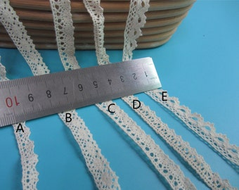 20yards Cotton lace trimming,Cotton lace ribbon