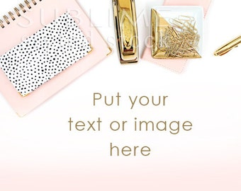 Styled Stock Photography / Styled photo / Styled Desk / Website Stock Photos / Pink and Gold / Blog Stock / Social Media / StockStyle-814
