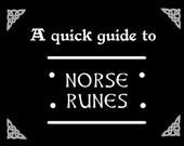 Printable Norse Runes Booklet • Viking Runes • Norse Runes • Elder Futhark • Digital Download • Digital paper • Pagan • Odinism • Rune set