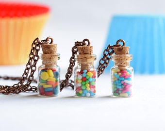 Bottle of Sprinkles Necklace
