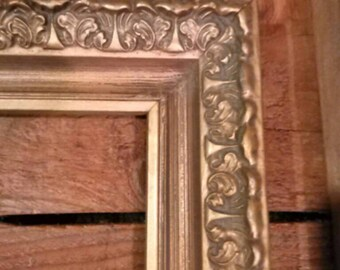 Wide Ornate 8x10 Vintage Frame - Shabby Chic Rustic Wedding Sign Home Decor, Nursery. Gallery Wall, Vintage Frame,
