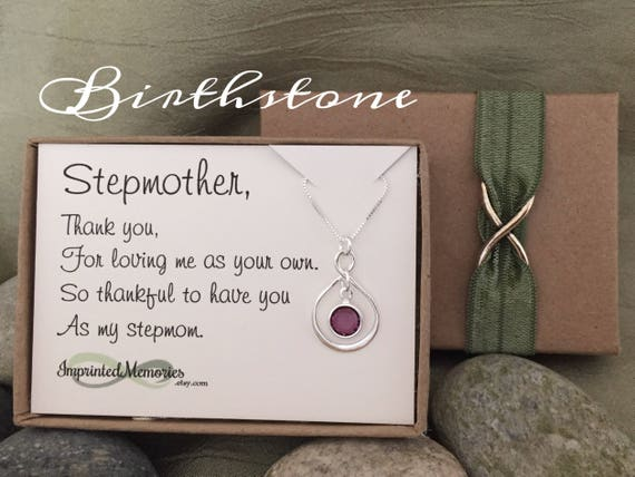 Wedding Gifts For Stepmom: StepMOTHER Necklace Gift For Stepmom Sterling Silver