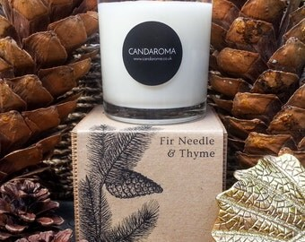 Handmade Fir needle & thyme Scented Soy Candle