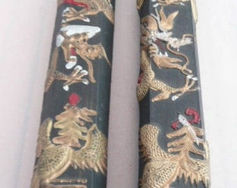 Two sticks of genuine China ink for caligraphy art works