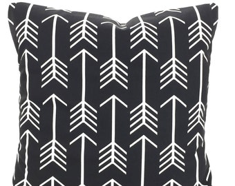Black White Throw Pillow Covers, Cushions, Couch Pillows, Decorative Pillow, Arrow, Couch Bed Euro Sham, Throw, One or More All Sizes