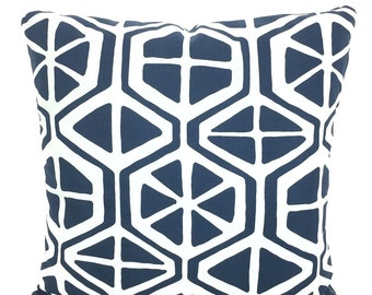 Navy Blue White Pillow Covers Decorative Throw Pillows Cushions Navy Blue White Aiden Mid Century Retro Couch Bed Sofa Pillows Various Sizes
