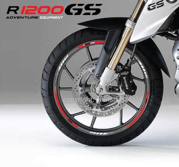 bmw r1200gs motorcycle wheel stickers rim stripes decals set. Black Bedroom Furniture Sets. Home Design Ideas