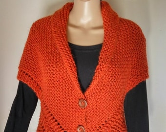 Sweater - gilet - shawl - woman - wool - handmade - Made in Italy