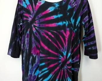 Plus size tie dye, Plus size top, Women's plus size, Women's clothing, Plus size tunic, Tunic tie dye, size UK 22-24, Tie dye T-shirt
