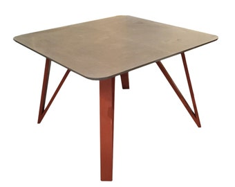 Square Dining Table with Four Angular Legs