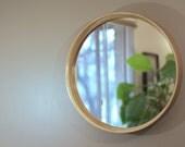 African Mahogany Reflect Mirror | 22 in Diameter