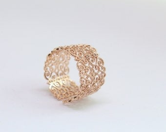 bridesmaid wedding thank you gifts Filigree Ring Jewelry Filigree Band Vintage Rose Gold Rings Adjustable ring Bridesmaid Jewelry Bridal