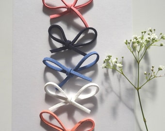 Faux Suede Tie Bow Hairband/Hairclip