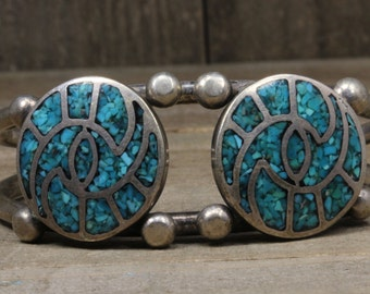 Used Sterling Silver Cuff With Turquoise