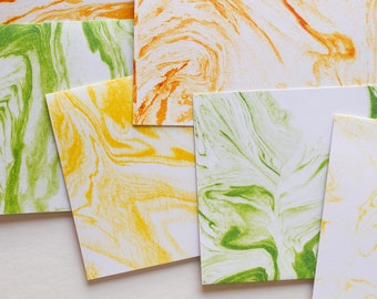 marbled note cards, set of cards, card set, blank cards, blank card set, blank stationary, note cards, stationery set, graduation card