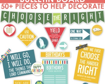 2017 LDS Primary Bulletin Board Printable Kit - Choose the Right - Now on SALE! - MB