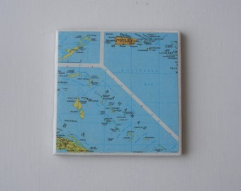 Bermuda Map Etsy - Bermuda islands map