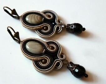 Boho Chic Soutache Earrings Elegant Ethno Glamour Ohrringe Soutache Boucles d'oreilles soutache Orecchini Soutache