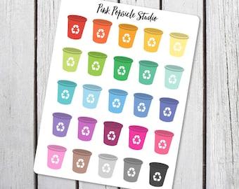 Recycle Planner Stickers Designed for Erin Condren Vertical Life Planner