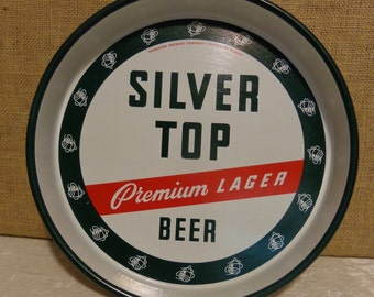 Vintage Silver Top Beer Tray