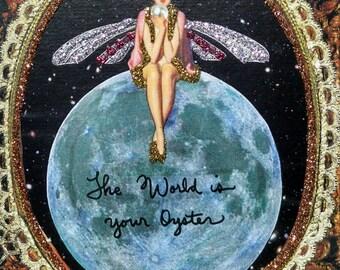 Pearl Fairy Card-Congratulations,World,Oyster,Graduation,New Job,Earth,Travel,Traveler,Pearls