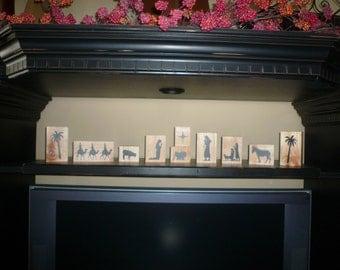 Nativity Scene Vinyl - for DIY 2x4 Wood Blocks