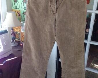 vintage corduroy pants, size 4, Isabella Bird tobacco color