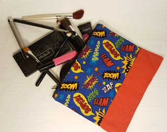 Comic / Pop Art Bag - Makeup Bag - Nerdy Gifts for Her - Geeky gift