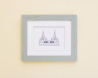 San Diego Temple Print