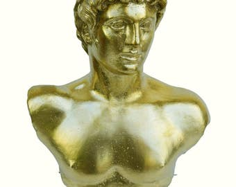 Apollo God of sun, light and poetry Bronze polished