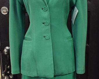 1940's Green Bullocks Rock a Billy Wool Suit True Vintage
