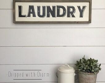 Laundry Room Sign, Framed Laundry Sign, Laundry Room Decor, Laundry Sign