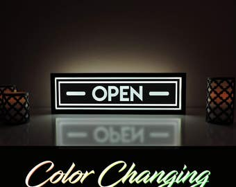 Open Sign, Light Up Business Sign, Open Light, Open Closed Sign, Open Bar Sign, Ambient Light, Remote Control Sign, Business Signage