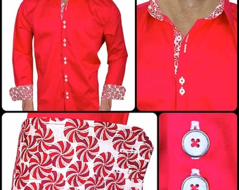 Red Christmas Dress Shirts - Made in the USA