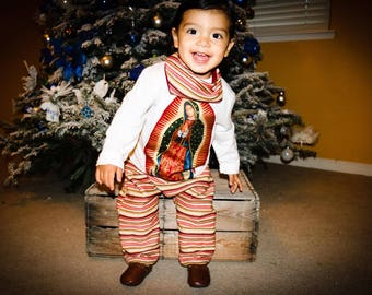 Virgin Mary baby boy outfit, Virgen De Guadalupe shirt and joggers