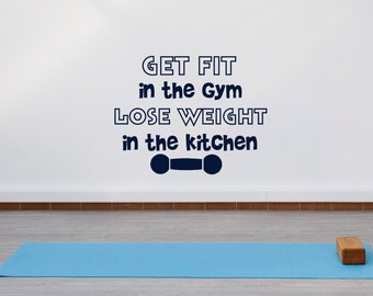 Fitness gym wall decal flex zone sticker art decor bedroom for Fitted kitchen quotes