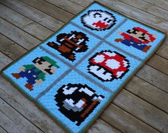 Customized Corner to Corner Super Mario Blanket