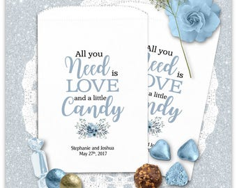 Wedding Candy Bags - Treat Bags -  Wedding Favors - Wedding Favors - Candy Bags - Need is Love CBP07TY0i2a