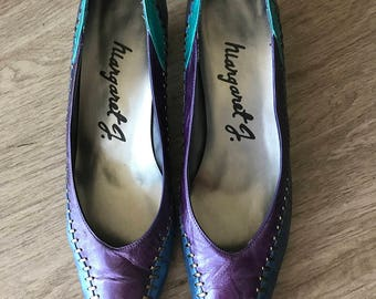Blue and purple Margaret J pumps