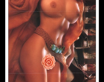 """Mature Playboy October 1988 : Playmate Centerfold Shannon Long Gatefold 3 Page Spread Photo Wall Art Decor 11"""" x 23"""""""