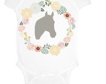 Horse Baby Girl Onesie