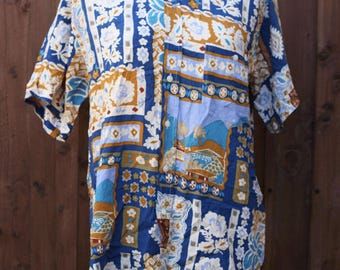 90s Hawaiian Print Short Sleeved Shirt